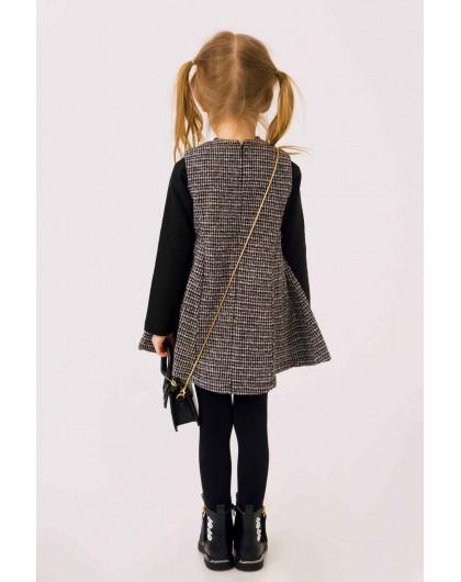 Платье вязаное с жемчужным воротом JO JO