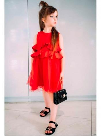 Платье котоновое с фатиновой юбкой JO JO
