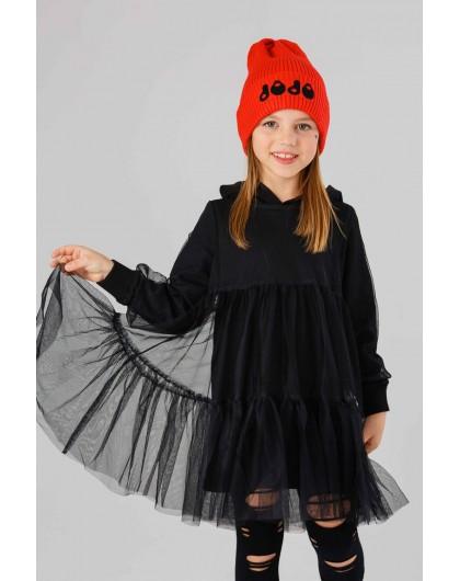 Платье с капюшоном и фатиновым сарафаном JO JO