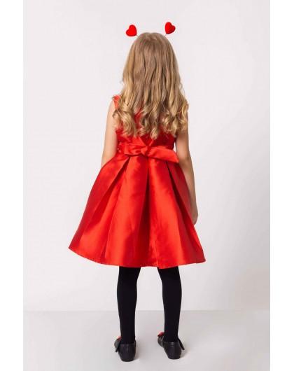 Платье с жемчужным колье и бантиком на поясе JO JO