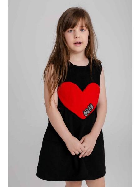 Платье теплое с сердцем JO JO