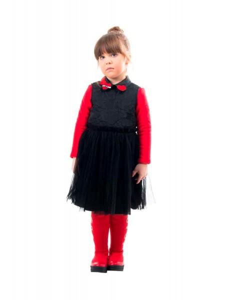 Платье без рукавов, с фатиновой юбкой плиссе JO JO