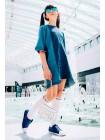 Платье джинсовое, удлиненное по бокам  JO JO