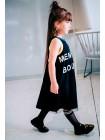 Платье хлопковое на спине Fashion юбка фатин JO JO