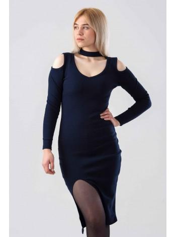 Платье с чокером и вырезами на плечах Gufo
