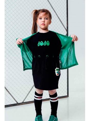 Платье с зеленой надписью на груди JO JO