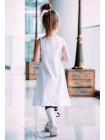 Платье трапеция стрейч с принтом Восклицательный знак JO JO