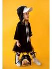 Платье трикотажное, с полосами спереди и фатиновой юбкой JO JO