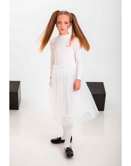 Платье с фатиновой юбкой и стразами  JoJo