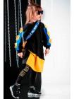 Платье с желто-голубыми вставками JoJo