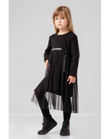 Платье с фатином и надписью JO JO Fashion JO JO