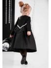 Платье с хлопковой юбкой на пуговицах JO JO