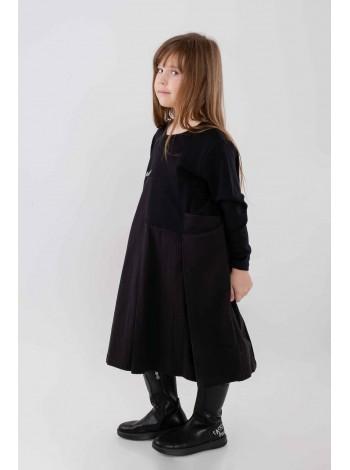 Платье с имитацией карманов и складками спереди JO JO
