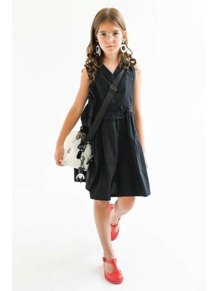 Платье с рюшами на поясе JO JO