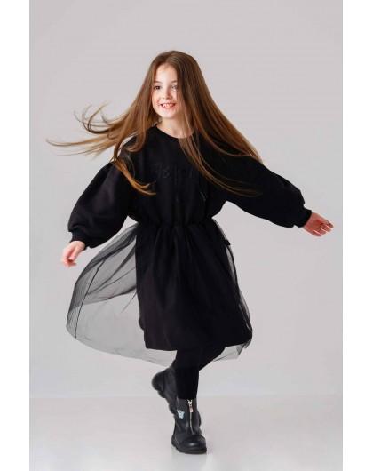 Платье с широкими рукавами и фатиновой юбкой JO JO