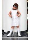 """Платье черно-белое """"ABCD"""" с разрезом по бокам JO JO"""