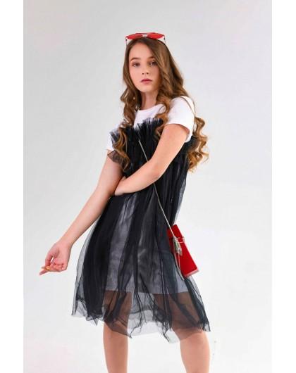 Платье футболка с фатином JO JO