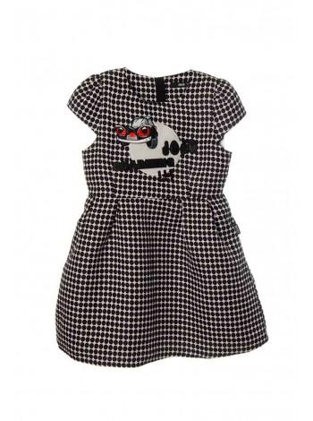 Платье в горошек, утепленное на флисовой подкладке JO JO