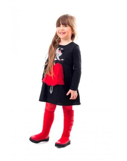 Платье на флисе с нашивкой Девочка JO JO