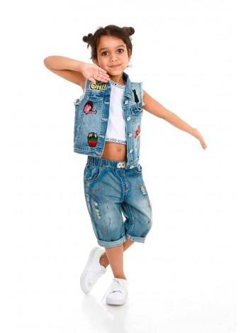 Шорты джинсовые, брызги краски JO JO