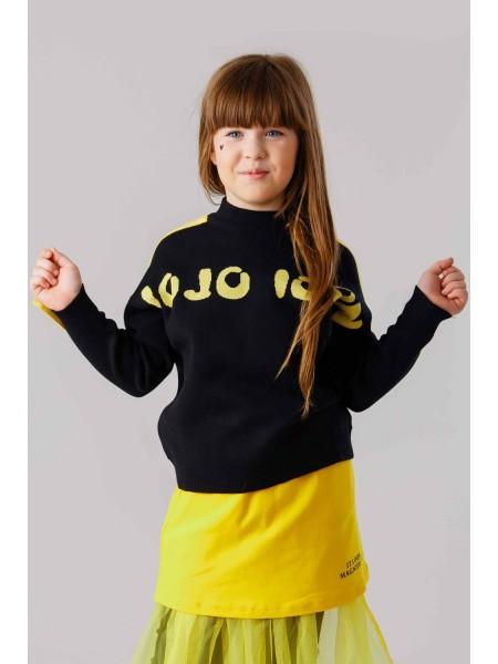 Джемпер с жёлтыми полосами на рукавах JO JO