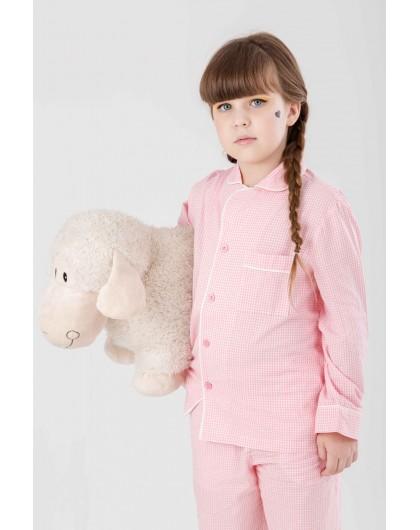 Пижама на пуговицах  в мелкую клетку JO JO