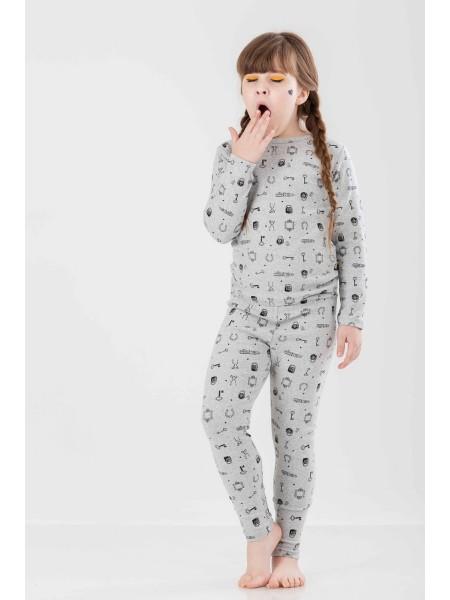 Пижама с принтом в разные маленькие предметы JO JO