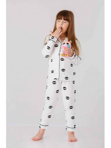 Пижама с воротником и брендовым принтом JO JO
