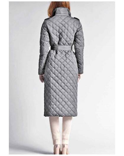 Пуховое пальто с воротником из шиншиллового кролика Италия NAUMI