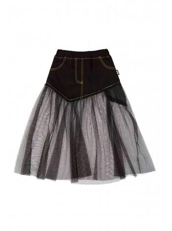Джинсовая юбка с фатином JO JO