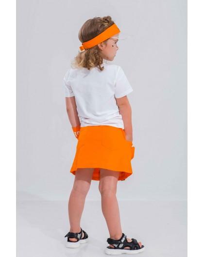 Футболка с принтом девочка в оранжевом квадрате JOJO