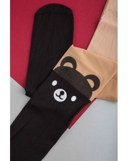 Колготы рисунок Cat/bear Gufo