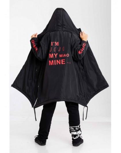 Куртка с принтом на спине и рукавах JoJo