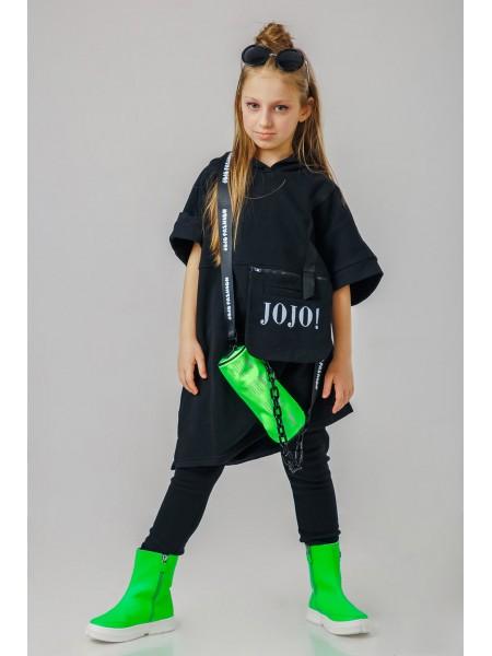 Туника с капюшоном и сумкой на молнии JO JO