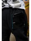 Штаны с кожаными вставками Manan