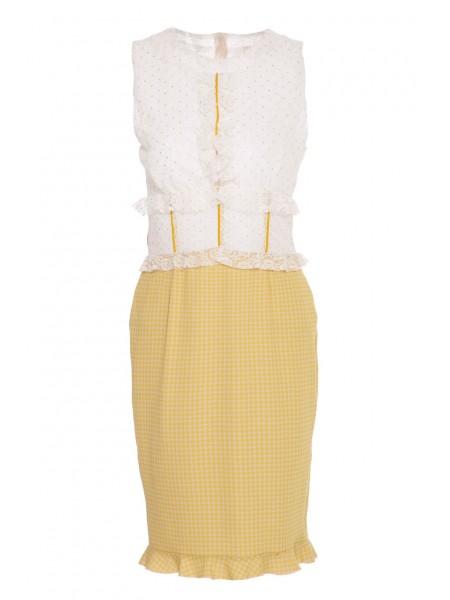 Платье с кружевом Roberta Biagi
