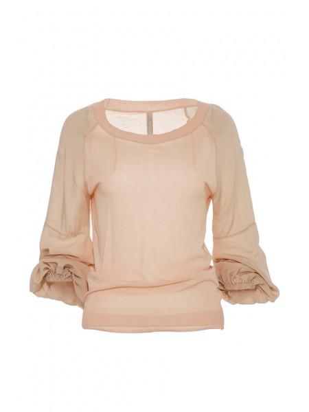 Блуза с шифоновыми рукавами PIANURA STUDIO