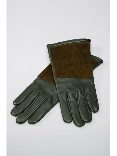 Перчатки кожаные с мехом пони INTROPIA