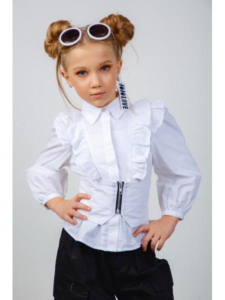 Блуза с рюшами и корсетом  JOJO
