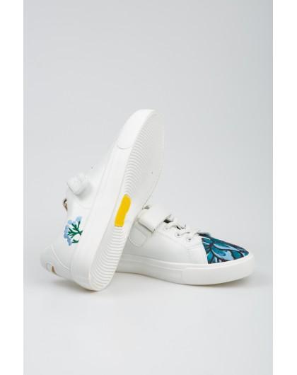 Кроссовки с цветочной вышивкой Fashion Dog