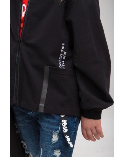 Кофта на молнии с накладными карманами JO JO