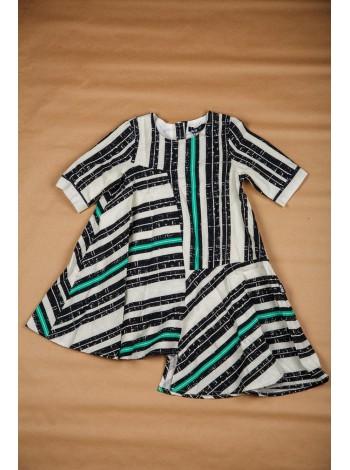 Платье с полосатым принтом JO JO