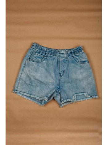 Шорты джинсовые с бахромой JO JO