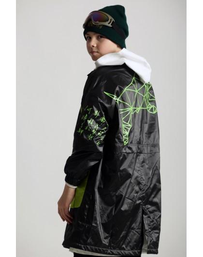 Куртка - плащ с иероглифами JO JO