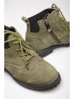 Ботинки замшевые с перфорацией  JoJo