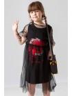Платье из фатина с хлопковой основой  JO JO