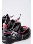 Кроссовки лаковые с яркой полосой JoJo