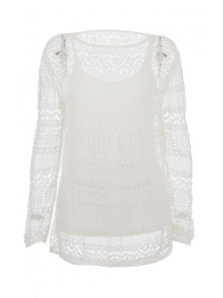 Блуза сетчатая с топом Waggon Paris
