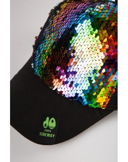 Бейсболка с разноцветными пайетками JoJo
