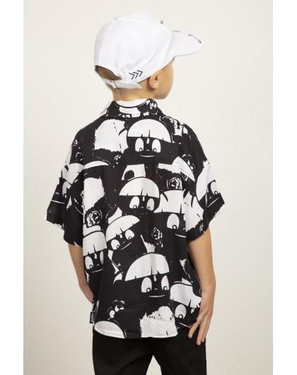Рубашка с сетчатыми карманами JoJo